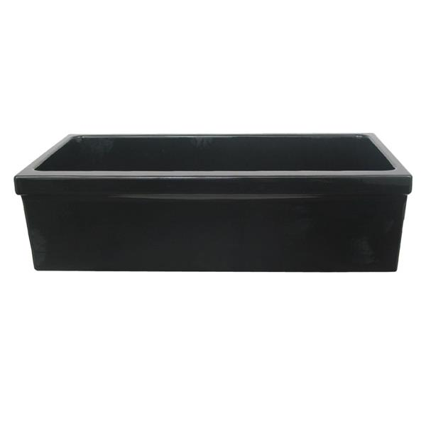 Whitehaus Collection Large Fireclay Kitchen Sink - 36-in - Black