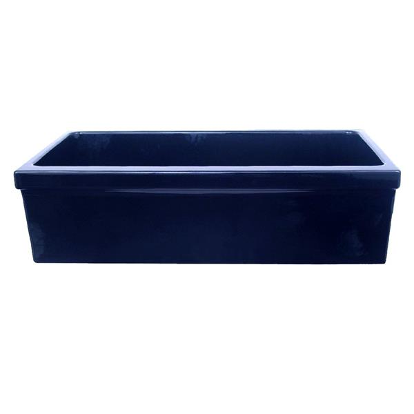 Whitehaus Collection Large Fireclay Kitchen Sink - 36-in - Blue