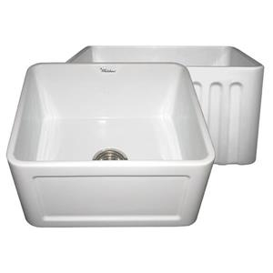 Whitehaus Collection Front Apron Fireclay Sink - 20-in - White