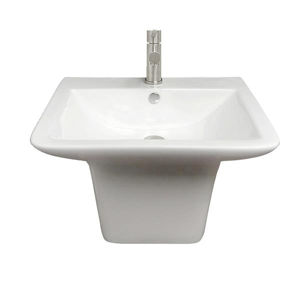 Whitehaus Collection Wall Mount Bathroom Sink - White