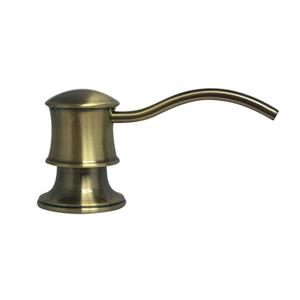 Whitehaus Collection Contemporary Brass Soap/Lotion Dispenser - Antique Brass