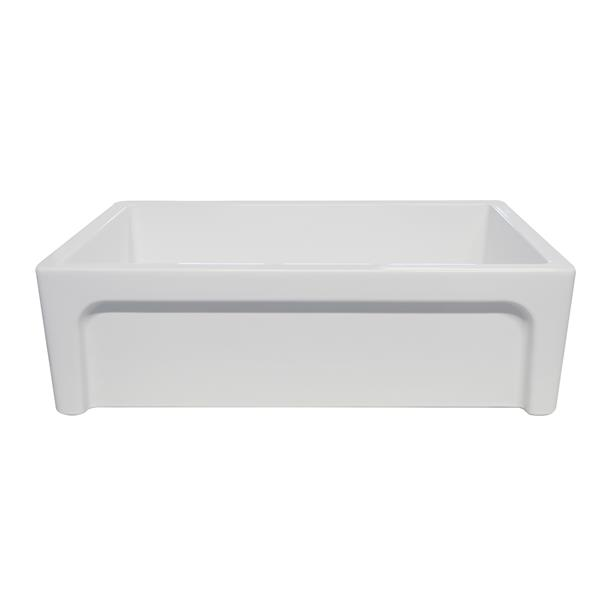 Whitehaus Collection Front Apron Fireclay Sink - 33-in - White