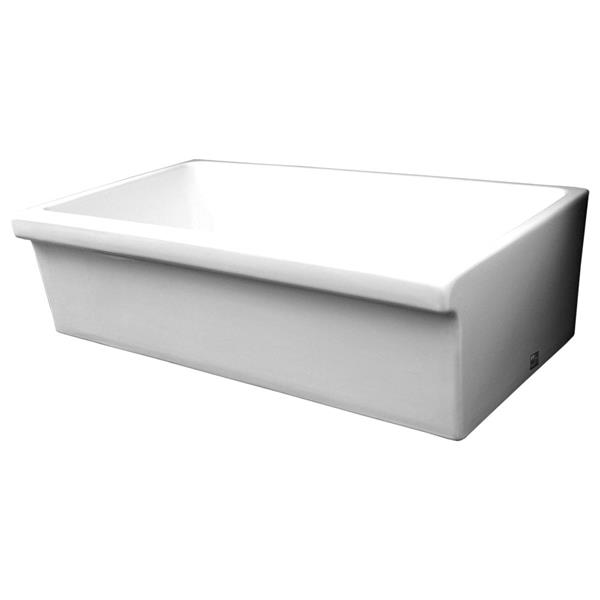 Whitehaus Collection Large Fireclay Kitchen Sink - 36-in - White