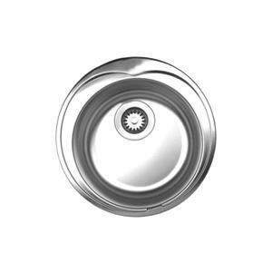 Whitehaus Collection Large Round Drop-in Sink - Stainless steel