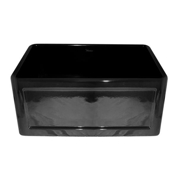 Whitehaus Collection Front Apron Fireclay Sink - 24-in - Black