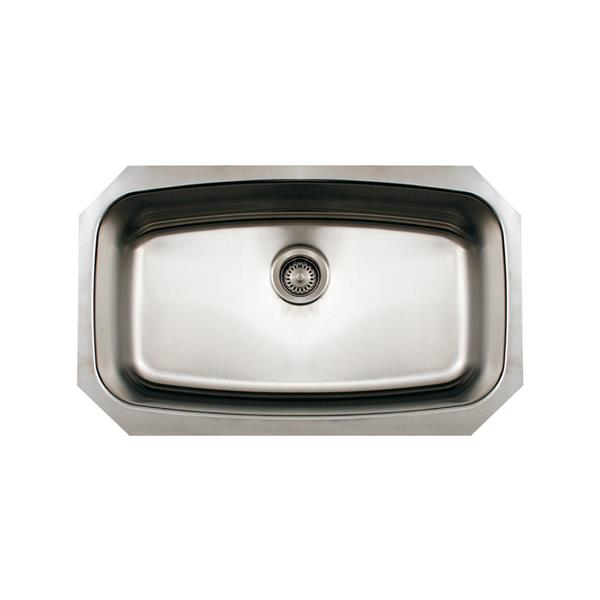 Whitehaus Collection Oval Single Bowl Undermount Sink - Stainless steel