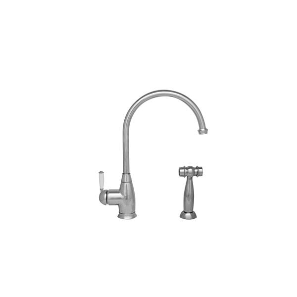 Whitehaus Collection Kitchen Faucet with Matching Side Spray - Chrome