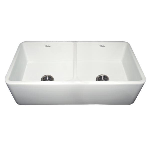 Whitehaus Collection Front Apron Fireclay Sink - 36 3/4-in - White