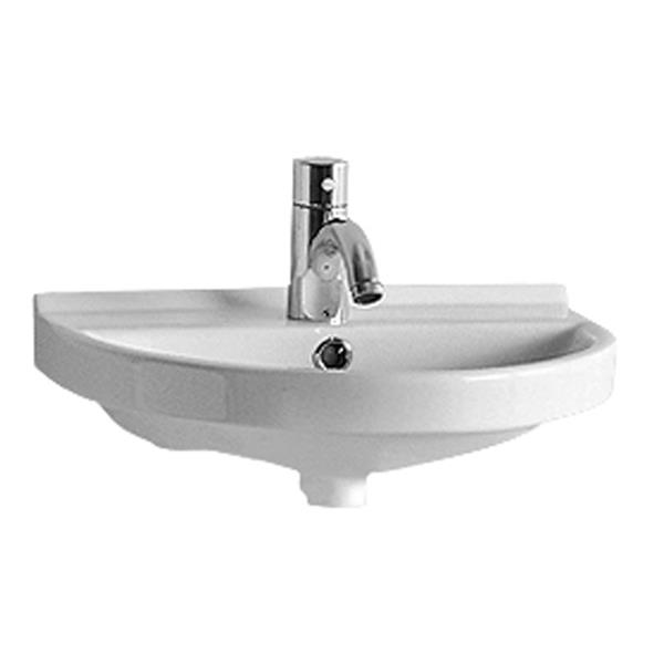 Whitehaus Collection U-Shaped Wall Mount Bathroom Sink - White