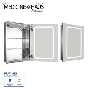 Whitehaus Collection Single Door Electric Medicine Cabinet