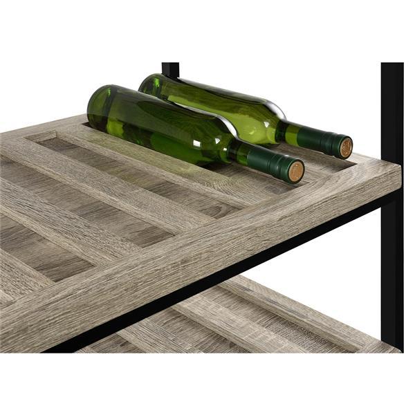 Ameriwood Home Elmwood Multipurpose Rolling Cart, Oak Gray