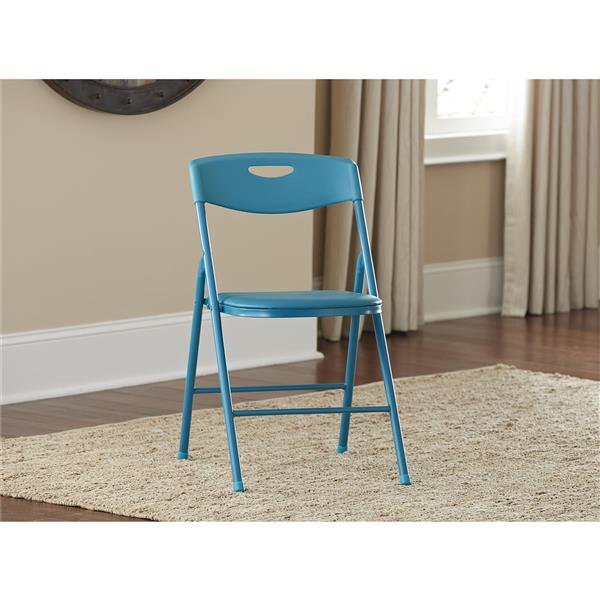 Cosco 5-Piece Folding Table and Chair Set - Teal