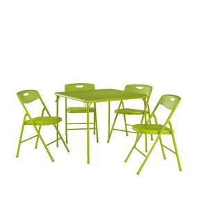 Cosco 5-Piece Folding Table and Chair Set - Green