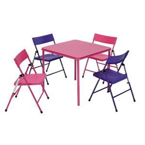 Ensemble 5 pièces pour enfants Cosco, 4 chaises, rose