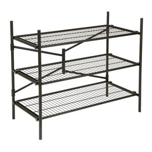 Cosco Stackable 3-Shelf Folding Instant Storage Unit - Black