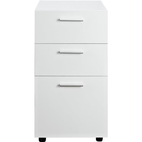 Classeur Mobile Princeton, 3 tiroirs, blanc