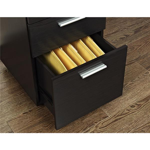 Ameriwood Home Princeton Mobile File Cabinet - 3 Drawers - Espresso