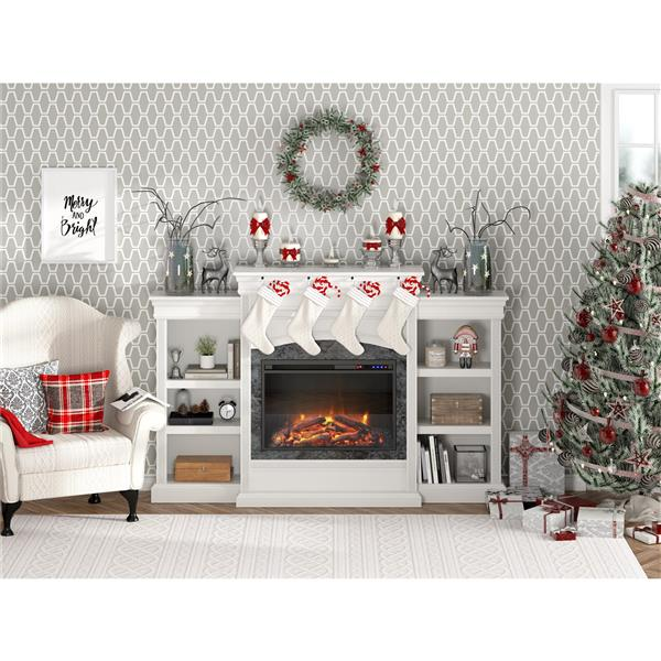 Ameriwood Home Lamont Mantel Electric Fireplace - White