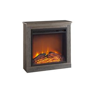Ameriwood Home Bruxton Electric Fireplace - Medium Brown