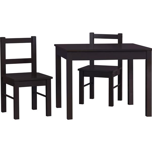 Ameriwood Home Hazel Kid's Table and Chairs Set - Espresso