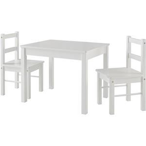 Ensemble pour enfant Hazel, 1 table et 2 chaises, blanc