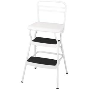 Cosco Stylaire Chair - 2 Steps with Flip-Up Seat - White