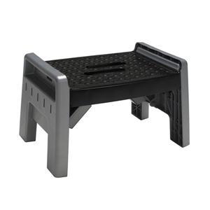 Cosco Folding Step Stool - Plastic - Black