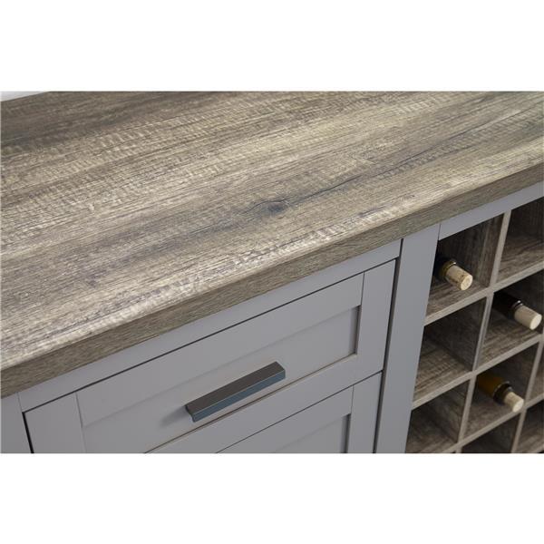 Ameriwood Home Carver Wine Cabinet - 1 Door - Gray