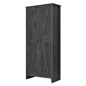 System Build Farmington Wide Storage Cabinet - 71-in x 31.5-in - Rustic Gray