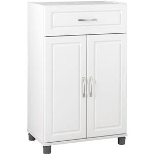 "Ameriwood Home Kendall Storage Cabinet - 2 Doors and 1 Drawer - 24"" - White"