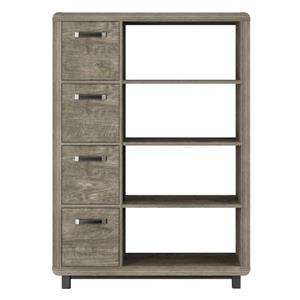 Eastlin Bookcase - 4 Bins - Weathered Oak