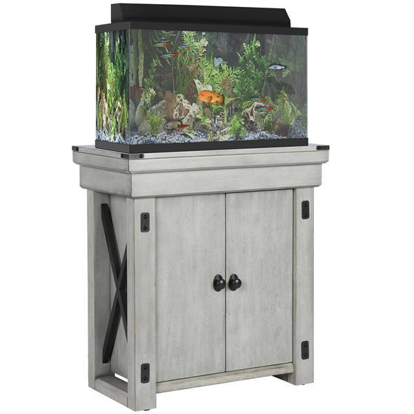 Support d'aquarium Wildwood, 20 gallons, blanc rustique
