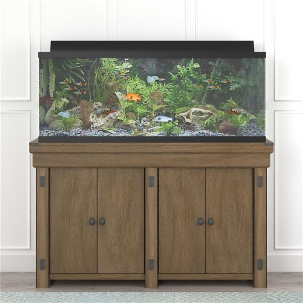 Ameriwood Home Wildwood - Aquarium Stand - 55 Gallons - Rustic Gray