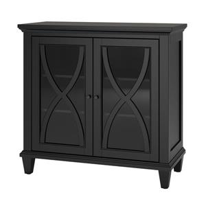 Ameriwood Home Ellington Accent Cabinet - 2 Doors - Black