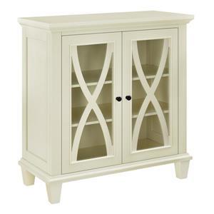 Ameriwood Home Ellington Accent Cabinet - 2 Doors - Ivory