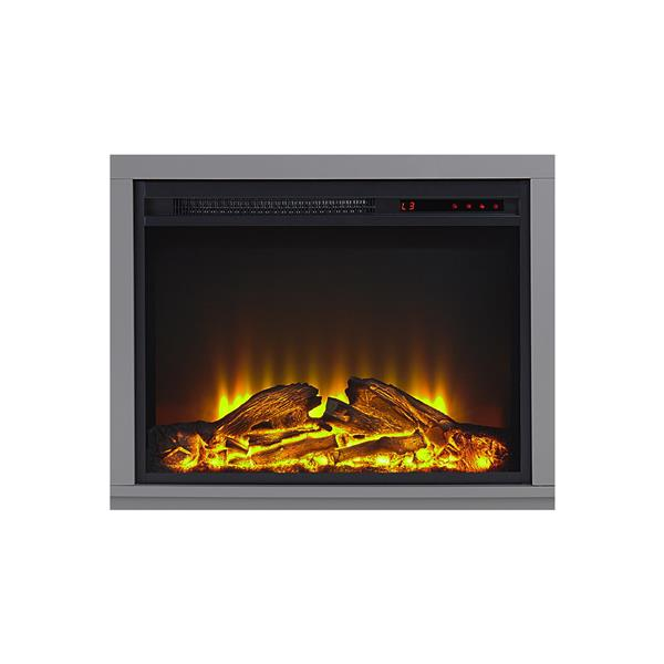 """Ameriwood Home Carver Fireplace with TV Cabinet - For TVs up to 60"""" - Gray"""