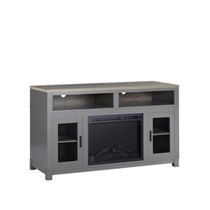 "Ameriwood Home Carver Fireplace with TV Cabinet - For TVs up to 60"" - Gray"
