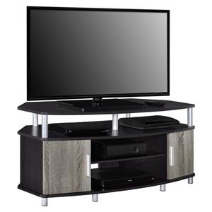 "Ameriwood Home Carson Corner TV Cabinet - For TVs up to 50"" -Black and Gray"