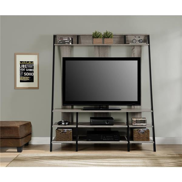 """Ameriwood Home Dunnington TV Cabinet - For TVs up to 48"""" - Gray Oak"""