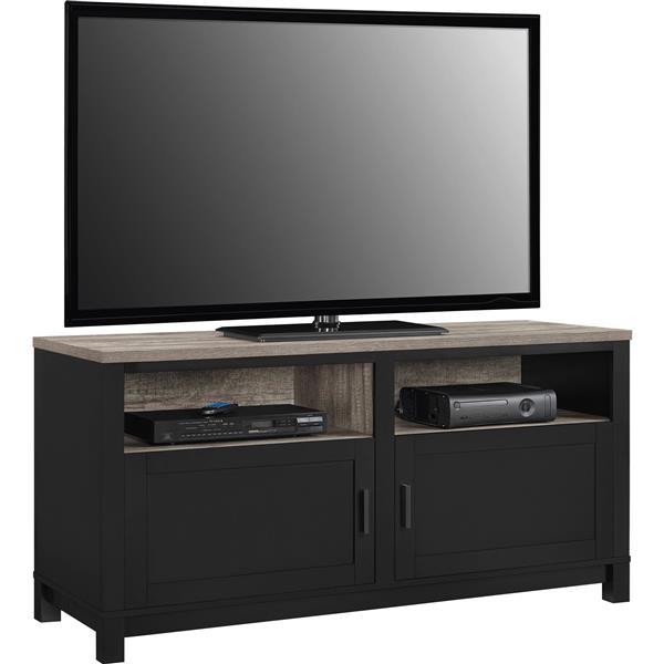 """Ameriwood Home Carver Media Cabinet for TVs up to 60"""" - Black"""