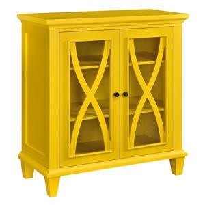 Ameriwood Home Ellington Accent Cabinet - 2 Doors - Yellow