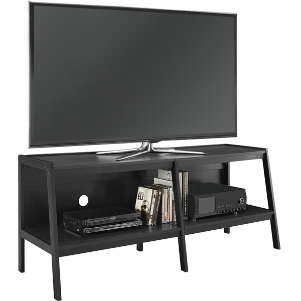 """Ameriwood Home Lawrence TV Stand for TVs up to 60"""" - Open Storage - Black"""