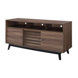 "Ameriwood Home Vaughn TV Cabinet for TVs up to 60"" - Walnut Brown"