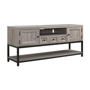"Ameriwood Home Barrett Multipurpose TV Cabinet for TVs up to 60"" - Gray Oak"