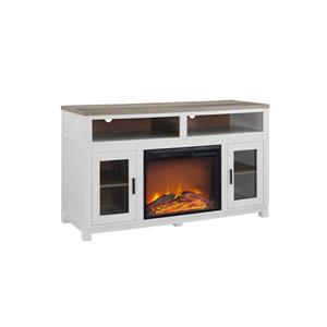 "Ameriwood Home Carver Fireplace with TV Cabinet - For TVs up to 60"" - White"