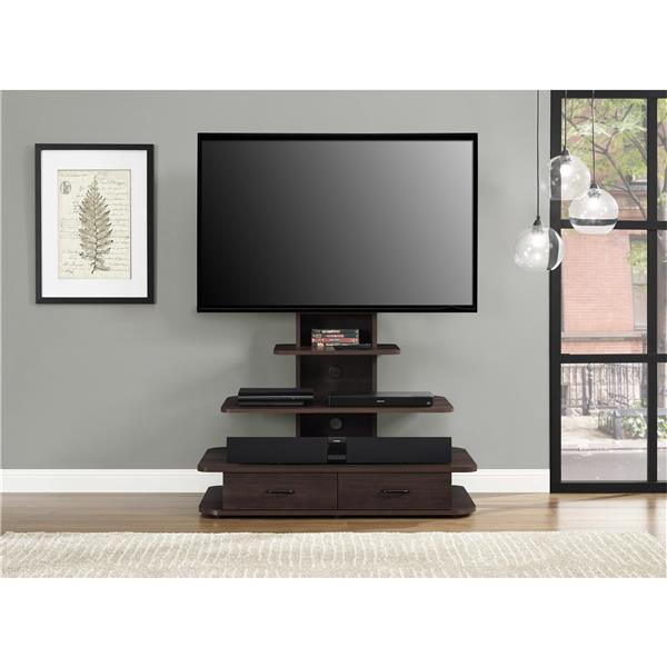 """Ameriwood Home Galaxy TV Stand - Mount and Drawers for TVs up to 70"""" -Brown"""
