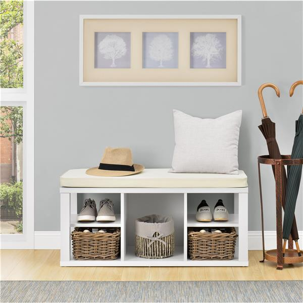 Swell Ameriwood Home Parsons Bench With Open Storage White Camellatalisay Diy Chair Ideas Camellatalisaycom