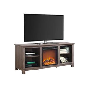 "Ameriwood Home Edgewood TV Console with Fireplace for TVs up to 60"" - Brown"