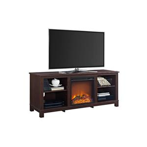 "Ameriwood Home Edgewood TV Console with Fireplace for TVs up to 60"" -Cherry"
