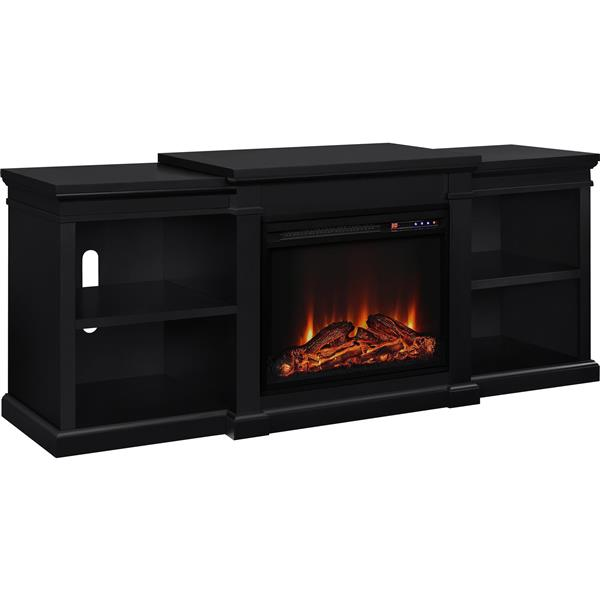 """Ameriwood Home Manchester TV Stand for TVs up to 70"""" - Electric Fireplace"""